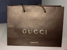 2 Brown Paper Gucci Gift Shopping Bags, Amazing Deal!