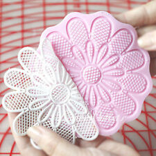 "NEW 4.5"" Round Lace Silicone Mold for Fondant, Gum Paste, Chocolate and Crafts"