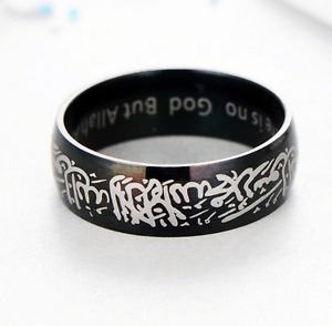 (Malaysi Ready Stock) Muslim ring selling 8mm Titanium ring men ring black