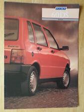 FIAT UNO 60 DS DIESEL orig 1987 1988 UK Mkt sales brochure