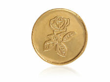 Beautiful Floral Bullion Gold Coin In Solid Stamped 24Karat (995) Yellow Gold
