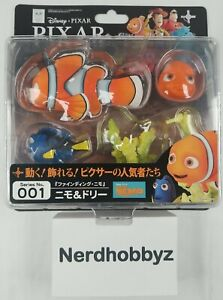 Revoltech Pixar Figure Collection No.001 Nemo & Dory - New In Hand FREE Shipping