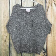 Romeo and Juliet Couture Brown Poncho Sweater Small