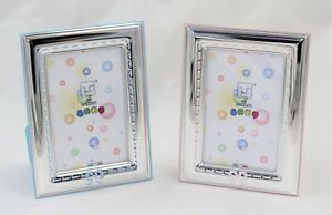 Cornice Porta Foto 7 X 9 cm argento 925 da tavolo Bimbo Bimba ITS made in Italy