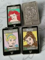 Princess Mobile Phones 2014 Hidden Mickey Series Set WDW Choose a Disney Pin