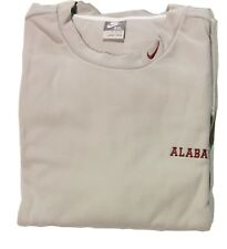 NWT Nike Men's Alabama Football Crew Fleece Sweatshirt Grey 4XL 762857-009 (R10)