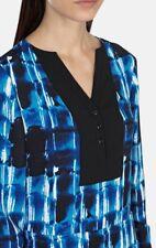 KAREN MILLEN BLUE GRAPHIC PRINT LONG SLEEVE TUNIC SHIRT DRESS 10