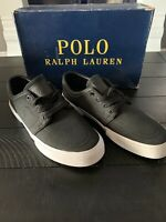 Polo Ralph Lauren Men's Black Sayer-SK-VLC Size 8.5 D Canvas Sneaker New