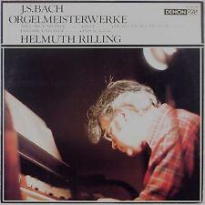 BACH: Organ Works HELMULTH RILLING Denon Audiophile VINYL LP Japan NM