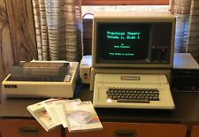 Apple Writer II PLUS Computer w/ A3M0039 Monitor A2M0003 Disk II 815-0540 Stand+