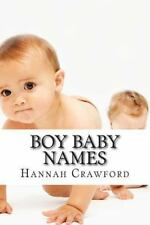 Boy Baby Names by Hannah Crawford (2015, Paperback)
