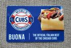 RARE Chicago Cubs 2016 WORLD SERIES Champions Buona Beef Gift Card Collectible For Sale