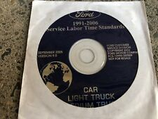 1996 1997 2000 2002 2003 2004 2005 2006 Ford Service Time Standards Manual DVD