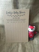 Personalised baby shower game, activity guess, predictions sheet A4