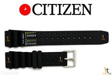 Citizen ND Limits NY0040-09E 20mm Black Rubber Watch Band NY0054-04E NY0054-04L