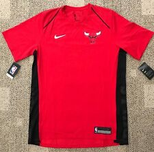 8369dba5b334 Nike Mens Short Sleeve Basketball Shirt Red Sz L Large NBA Chicago Bulls  877437