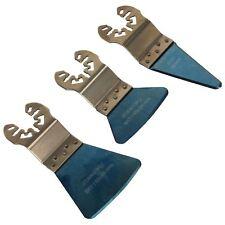 Sealey 3pc Quick Change Multi Tool Scraper Blade Set Rigid Flexible Sharp SMTB3