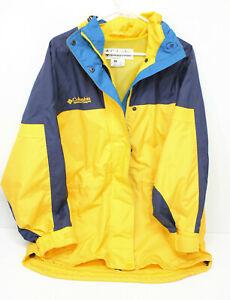 Vintage 90's Women's Columbia Sports Jacket Yellow Blue Turquoise Medium