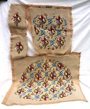 French Finished Hand Made Needlepoint Tapestry for Armchair Flower Ribbon