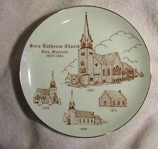 Svea Lutheran Church MN Glass Plate Osterberg Pearson Turnquist Rudquist Ellman