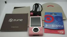 Microsoft Zune Limited Edition Pink (30gb) Vg Working Media Player - (With Box)