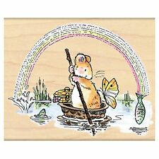 Fish Are Jumpin Rainbow Mouse Wood Mounted Rubber Stamp PENNY BLACK - NEW, 4252K