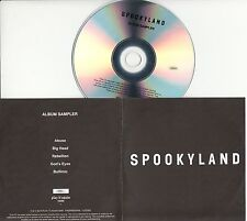 SPOOKYLAND Album Sampler 2016 UK 5-trk numbered promo test CD