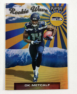 2019 Panini Playoff Rookie Wave #10 DK Metcalf Holo Foil - Seahawks
