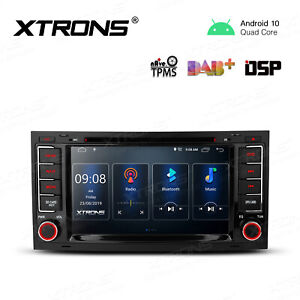 "7"" Android 10.0 Car Stereo DVD GPS Radio DSP Head Unit For VW Touareg Multiwan"
