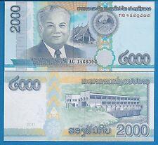 Laos P-41 2000 Kip Year 2011 Uncirculated Banknote Asia