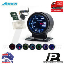 """52mm Boost Gauge Analogue 2"""" ADDCO Racing Smoked Face 7 Colour + Sensors"""