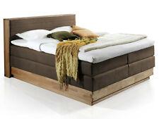 MENOTA Boxspringbett 160x200 H2H3 Doppelbett mit Bettkasten Eiche Vintage Braun