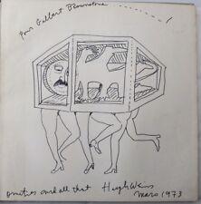 Hugh Weiss Album Dédicace manuscrite signée avec beau dessin original de 1973