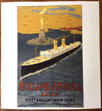 HOLLAND AMERICA LINE Poster (Reproduction) -- ROTTERDAM IV