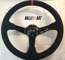 Ralliart Style 350mm Suede Leather Deep Dish Steering Wheel OMP MOMO EVO 6 7 8 9