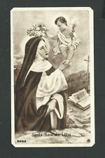 Estampa antigua de la Santa Rosa de Lima andachtsbild santino holy card santini