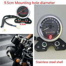 Motorcycle Odometer Speedometers Gear Digital Display 9.5cm Mount Hole Universal