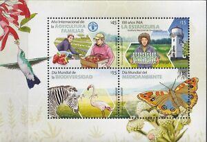 Uruguay 2014 Fauna, Birds, Butterflies, International Year of Farming MNH**