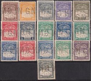 Venezuela 1930 SC C1-C17 Var Sanabria 33-48 LH Set