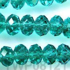 Wholesale ! 6x8mm Beautiful Dark Green Crystal Gemstone Loose Beads 70pcs 000