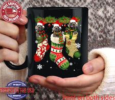 Spanish Mastiff In Sock Christmas Santa Hat Xmas Dog Lover Mug