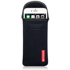 Shocksock Black Neoprene Pouch Case for Apple iPhone 6 Plus / 6S Plus