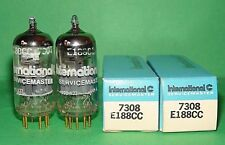 Pair IEC  E188CC 7308 Gold Pins Vacuum Tubes Strong & Balanced USA