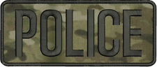 POLICE embroidery patch  4x10  hook MULTICAM