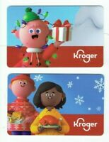 Kroger Gift Card - Christmas - LOT of 2 - Grocery Store Supermarket - No Value