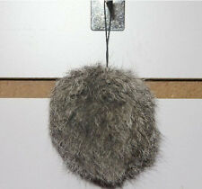 Popular 8cm Real Fur Fluffy Rex Rabbit Hair Pompom Ball Key Chain Handbag Phone