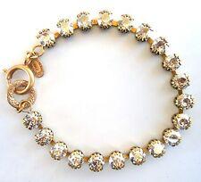 """CATHERINE POPESCO Stunning Shade Small Swarovski Crystal Gold Bracelet 7.5"""""""