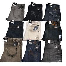 Rock & Republic Jeans Masculino Straight Leg Regular Fit Luz Azul Escuro Médio Novo
