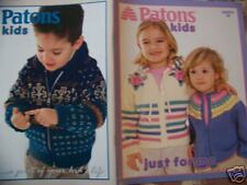 Patons Kids Knitting Booklet Kids Sweater Pattern