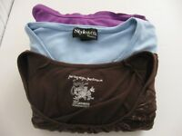 Lot of 3 Womens size 2X shirts Brown Blue and Purple  Free Shipping